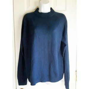 Faux Cashmere Teal Blue Mockneck Sweater 1X